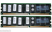 Hp Kit De 4gb 2x2 Gb Ddr333 Pc2700 registrada Ecc 358349-b21 367553-001 331563-051