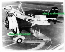 "8""x10"" glossy Navy Curtiss F9C-2 Sparrowhawk fighter airplane biplane photo 1933"
