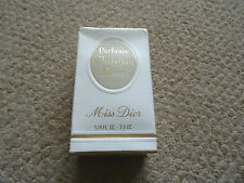 VINTAGE PARFUMS CHRISTIAN DIOR, MISS DIOR 1/4 FL. OZ - 7.5CC MINT IN BOX SEALED