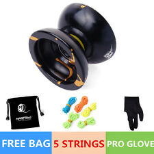 Magic YOYO Ball N11 Splash Aluminum Alloy Kids Toys Gift Black 5 String 1Bag