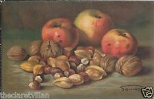 Apples & Nuts almond brazil walnut hazel  Artist Somasca 1924 Postcard