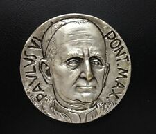 Italy / 1964 Italian Pope Paul VI Silver-Plated Bronze Medal / RARE / M 59