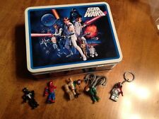 Star Wars 2008 collectible tin lunchbox and Lego action figures