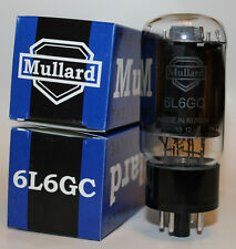 Matched Pair (2 tubes) Mullard 6L6GC Reissue tubes, NEW