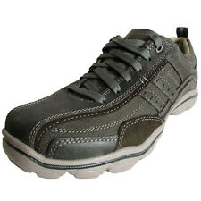 Skechers Mens Relaxed Fit Montz Reyvon 64073 Casual Shoe, Charcoal, US 7