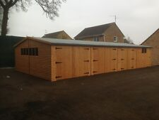 40X20 TIMBER GARAGE - 22mm T/G, LOG CABIN GARAGE