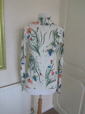 BN TOPSHOP UNIQUE SOLD OUT EVENDALE FLORAL /S TURTLE NECK TOP SIZE 12