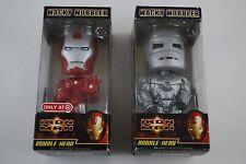 Iron Man Bobble-Head Funko Wacky Wobbler Lot of 2 Bobble-Heads Damaged Packaging