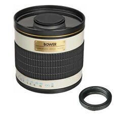 Bower 500mm f/6.3 Telephoto Mirror Manual Lens for Nikon SLR camera,free US ship