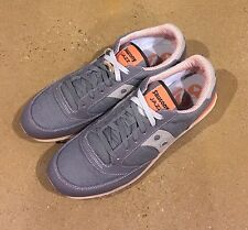 Saucony Jazz Low Pro Vegan Size 14 Men's Charcoal Orange Running Shoes Sneakers