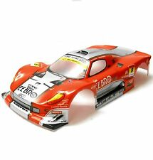 H018R 1/10 Scale Drift On Road Touring Car Body Cover Shell RC Red 190mm Wide