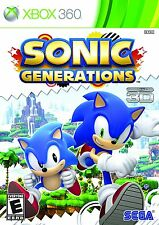 Sonic Generations [Xbox 360 Video Game 3D 2D Attack Boost Fun] Brand NEW Sealed