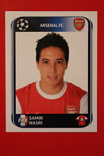 PANINI CHAMPIONS LEAGUE 2010/11 # 491 ARSENAL FC NASRI BLACK BACK MINT!