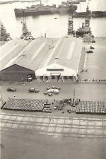 WWII US RP- French North Africa- Navy- Parade- Admiral- Car- Port- Dock- Ship