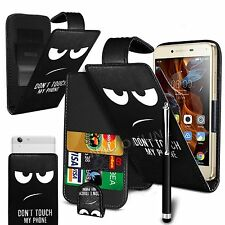 For Acer Liquid Glow E330 - Printed Clip On PU Leather Flip Case Cover & Pen