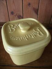 Wade Ceramics Butterlicious Lidded Yellow Butter Dish