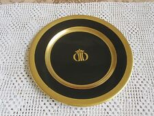 Shenango China Interpace Plate Black Gold Crown