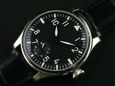 44mm Parnis 6498 Hand Winding Black Dial Watch