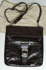 OGGI ARGENTINIAN PELLE LEATHER BAG'S HAND SHOULDER MESSENGER BAG NERO CHOCOLAT