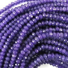 """2x4mm Natural Faceted Purple Amethyst Rondelle Gemstone Loose Beads 15"""" AAA"""