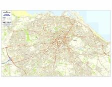 Postcode City Sector Maps 4 Edinburgh - Laminated Wall Map For Business