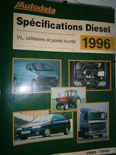 livre spécifications diesel 1985 à 1996 Autodata
