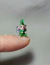 OOAK MINIATURE baby fairy gnome elf butterfly HANDMADE POLYMER dollhouse fantasy