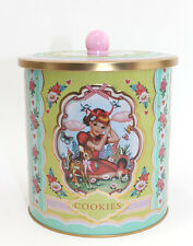 Cookie tin Box 40 50 piece Cotton candy Nostalgia NEW Tin can Baking containers