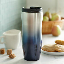 Starbucks Stainless Steel Double Wall Gradient Tumbler Silver Blue 12 fl oz NWT