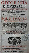 BUFFIER,GEOGRAFIA UNIVERSALE,MIT WELTKARTE,MIT 19 GEFALTETEN KARTEN,1744
