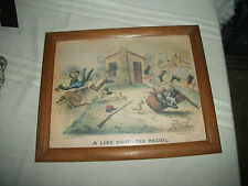 Currier & Ives Black Americana print copy right 1881 Line shot