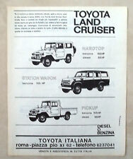 D437-Advertising Pubblicità-1975 - TOYOTA LAND CRUISER