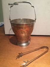 VINTAGE SILVER PLATED EPNS A1 WINE BOTTLE COOLER ICE BUCKET CHASED TONGS