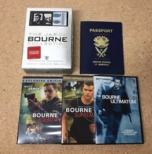 The JASON BOURNE COLLECTION LIMITED EDITION 3 DVD SET w/  Bonus Footage