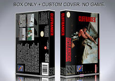 CLIFFHANGER. NTSC VERSION. Box/Case. Super Nintendo. BOX + COVER. (NO GAME).