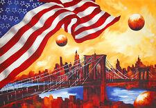 Claus Schenk Poster Kunstdruck Bild Amerika II USA NY 70x100 Kostenloser Versand