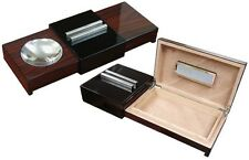Lacquer Brazilian Rosewood Sliding Ashtray Humidor With  Humidifier