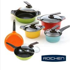 ROICHEN ECO Friendly Ceramic Nonstick Saucepan,Casserole,fry pan Cookware 6 Set