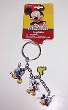 Licensed Disney MICKEY MOUSE CLUBHOUSE KEYCHAIN Key Chain Key Ring Fob NEW!!