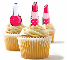 ✿ 24 Edible Rice Paper Cup Cake Toppings, Cake decs - Make-up ✿