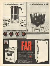 Publicité 1963  Réfrigérateur Cuisinière FAR