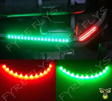 "2x Boat Navigation LED Lighting RED & GREEN 12"" Waterproof Marine LED Strips"
