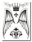 Angel & Crown Temporary Tattoos Sheet - Perfect for dress ups / costume parties!