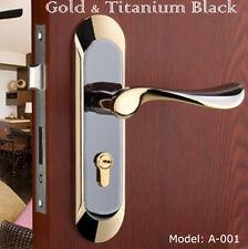 New Gold Titanium Black interior bedroom artistic mortise door lock (Bne)