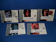 2003 UD BASKETBALL - SPx (5) AUTOGRAPHED NBA JERSEY CARDS / ROOKIES *LQQK*