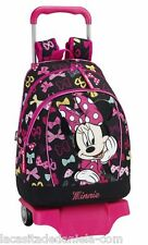 MINNIE MOUSE Mochila grande con carro ruedas /Trolley / Big rucksack with wheels