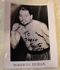 ROBERTO DURAN HANDS OF STONE AUTOGRAPHED SIGNED 8x10 PHOTO