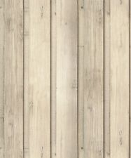 Arthouse Skandi Plank Wallpaper 696700 - 3D Effect Wood Panel Cladding Natural