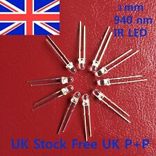 10pcs 3mm High Power Infrared IR LED Wavelength 940nm UK Stock Free UK P+P