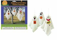 3 Haunted Halloween Hanging Ghost Spooks Party Decoration Indoor Outdoor